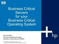 Business Critical Servers for your Business Critical - Für die ...