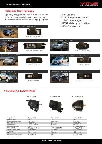 Reverse Camera Systems Catalogue - VMS
