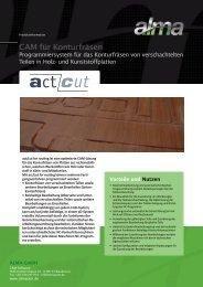 actcut for routing: Programmiersystem für das ... - De.almacam.com