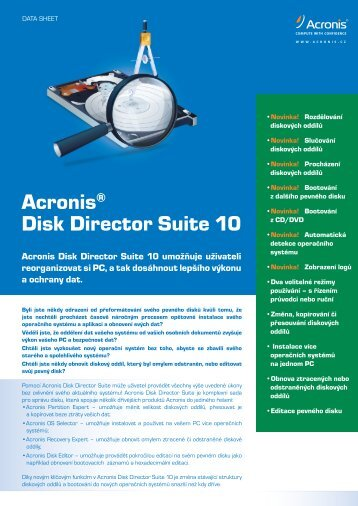 Acronis® Disk Director Suite 10
