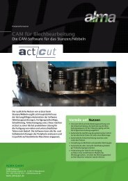 act/cut: die CAM-Software für das Stanzen/Nibbeln - De.almacam.com