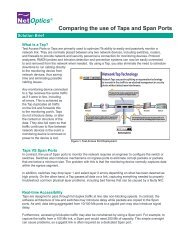 Taps versus Span Ports - Infosight Solutions Corp