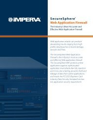 SecureSphere® Web Application Firewall - Infosight Solutions Corp