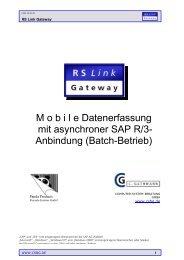 M o b i l e Datenerfassung mit asynchroner SAP R/3 ... - Csbg.de
