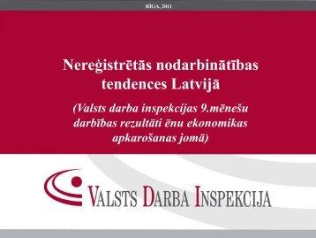 Nereģistrētās nodarbinātības tendences Latvijā - Valsts Darba ...