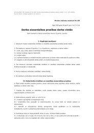 Darba aizsardzības prasības darba vietās - Valsts Darba Inspekcija