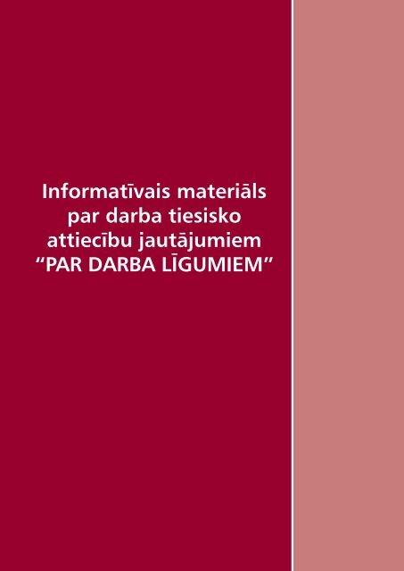 PAR DARBA LĪGUMIEM - Valsts Darba Inspekcija
