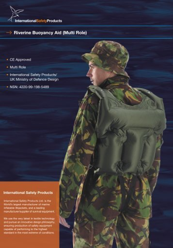 Riverine Buoyancy Aid (Multi Role) - International Safety Products Ltd