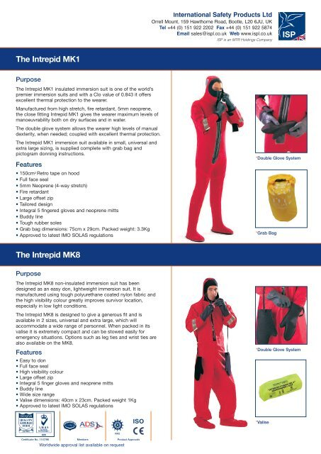 Intrepid MK1 Universal Immersion Suit