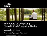 Cisco Unified Computing System - Open Networks