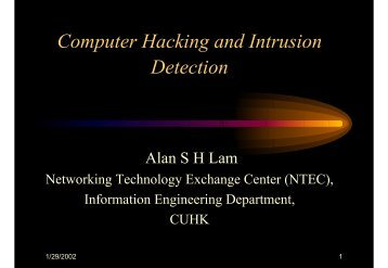 Computer Hacking and Intrusion Detection