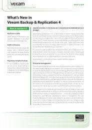 What's New in Veeam Backup & Replication v5 - Thomas-Krenn AG