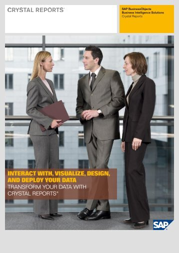 Crystal Reports - Solution Brief - SAP Service Marketplace