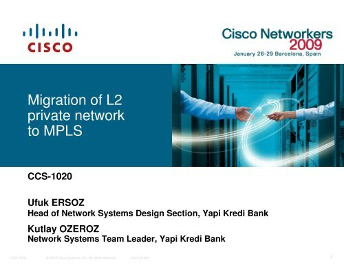 Migration of L2 private network to MPLS