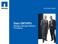 Data ONTAP Storage Virtualization for the Dynamic Data Center