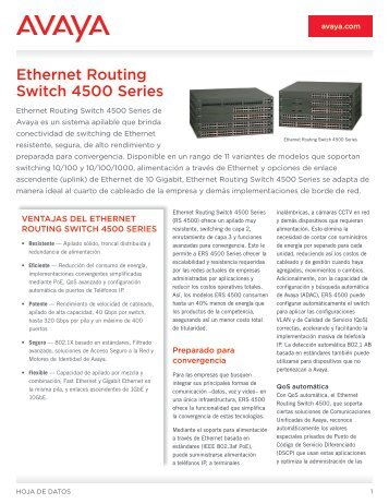 Ethernet Routing Switch 4500 Series - Avaya