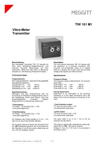 TSW 101 M1 Vibro-Meter Transmitter - bei der Meggitt GmbH