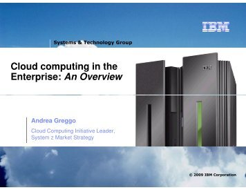 Cloud computing in the Enterprise: An Overview