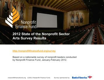 2012 State of the Nonprofit Sector Arts Survey Results