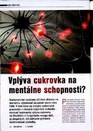llplvva cukrovka na mentálne schopnosti? - Ústav merania SAV