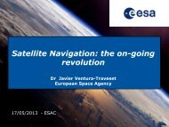 Satellite Navigation: the on-going revolution - ESA