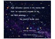 High ionization species in the nearby Interstellar Medium