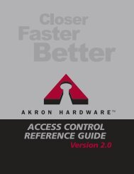Access Control Guide - Akron Hardware