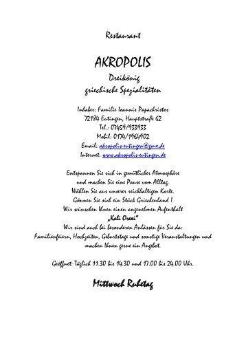 Griechisches Restaurant - akropolis