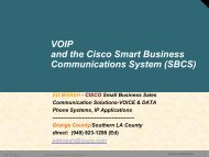 Cisco Systems - SoCal IT Pro Association
