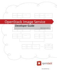OpenStack Image Service Developer Guide