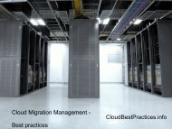 Cloud Migration Management - Best practices CloudBestPractices.info