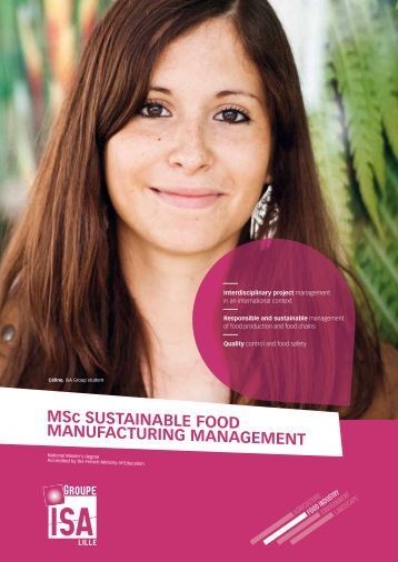 MSc SUSTAINABLE FOOD MANUFACTURING MANAGEMENT
