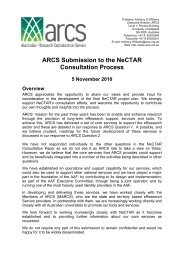 NeCTAR Response from ARCS - final