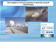 New insights on thermal properties of asteroids
