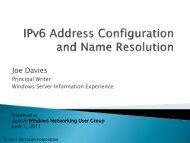 IPv6 Address Configuration and Name Resolution - SITPUG