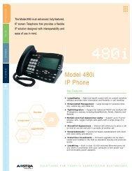 Model 480i Ip phone - Web Configurator - Aastra