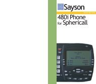 Sphere - 480i for Sphericall Pocket User Guide - Web Configurator