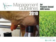 Management Guidelines for Pasture Based AMS ... - Future Dairy