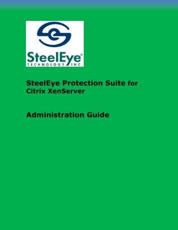 SteelEye Protection Suite v6.3 Citrix XenServer - SIOS Technology ...
