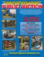 csc mtesc facilities - Cincinnati Industrial Auctioneers,  Inc.