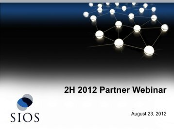 2H 2012 Partner Webinar - SIOS