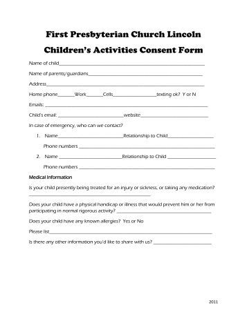 100 Consent Form Template For Interview