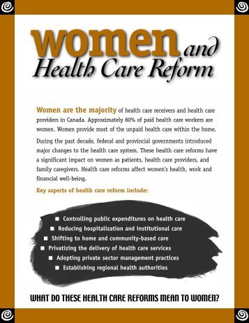 Women and Health Care Reform - Canadian Women's Health Network