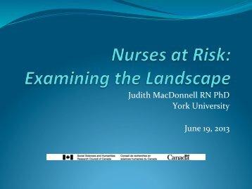 Judith MacDonnell RN PhD York University June 19, 2013