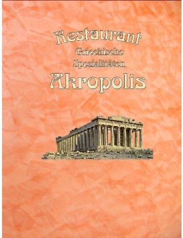 Kein Ruhetag! - Griechisches Restaurant Akropolis - Kleve