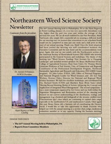 NEWSS MAY 2012 newsletter - NorthEastern Weed Science Society
