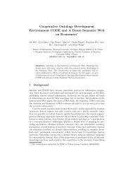 Cooperative Ontology Development Environment CODE and A ...