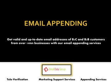 Email Appending | Email Append | Append E-mail