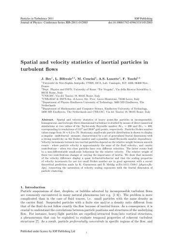 Spatial and velocity statistics of inertial particles in turbulent flows