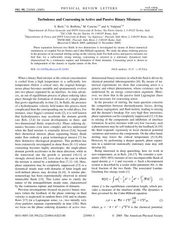 Turbulence and Coarsening in Active and Passive ... - Sapienza